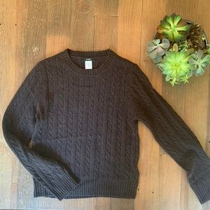 J.Crew Brown Knit Sweater- Wool, Angora, Cashmere